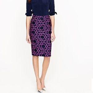 J.Crew no 2 pencil skirt in geometric print
